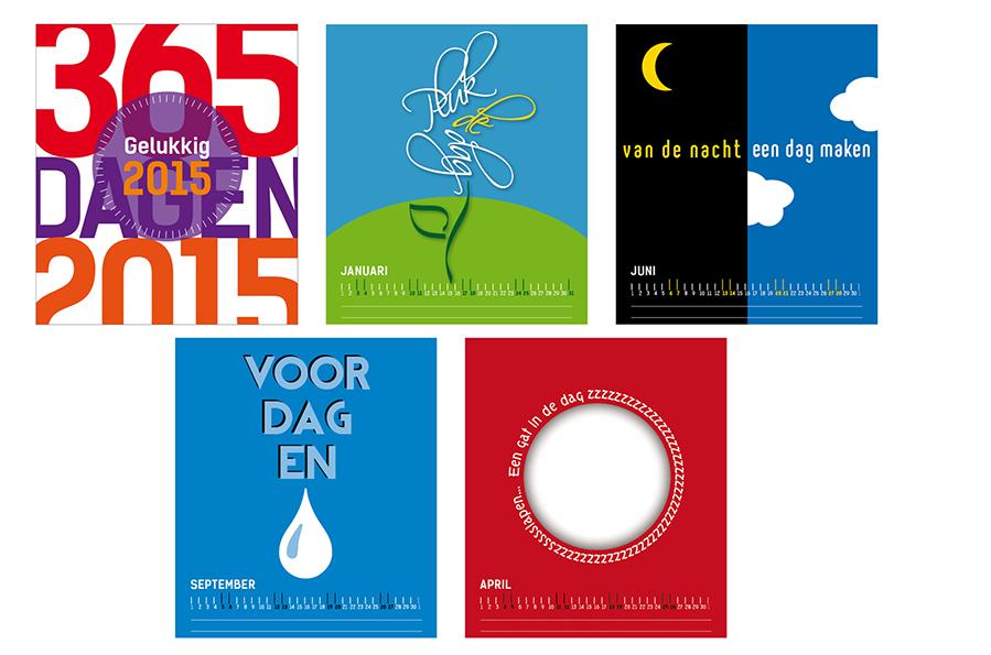 Genomineerd voor Beste Bureaukalender 2015 ontwerp Willeke Vrij Vormgeving