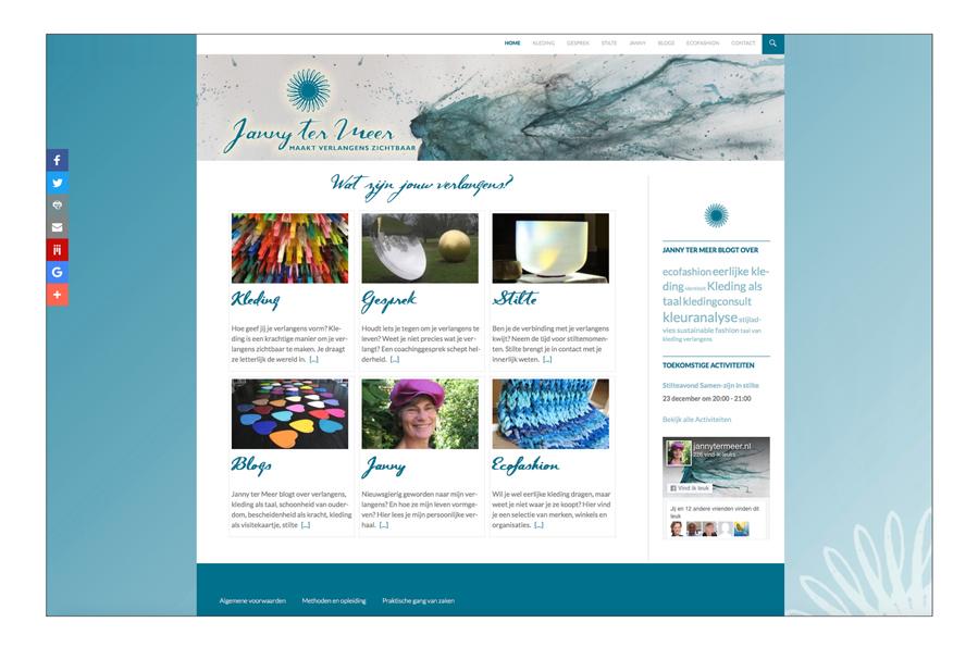 Website Janny Ter Meer ontwerp Willeke Vrij Vormgeving
