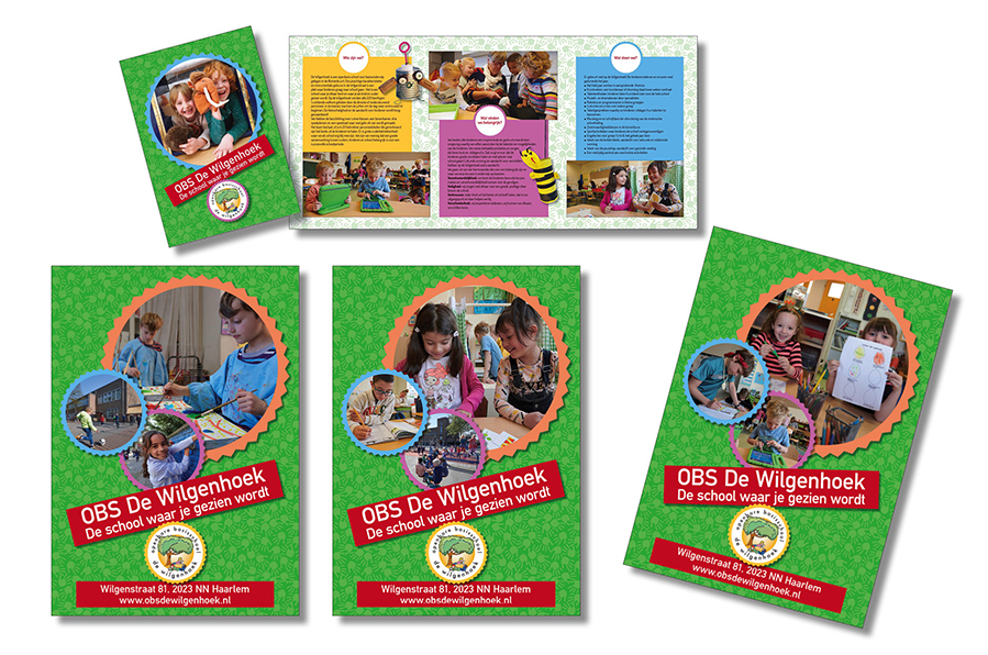 brochure gemaakt door Willeke Vrij Vormgeving voor OBS De Wilgenhoek