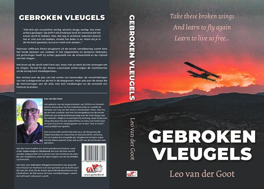 boekomslag gebroken vleugels van leo van der goot vormgeving door willeke vrij